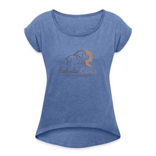 Fabula Canis - Frauen T-Shirt mit gerollten Ärmeln