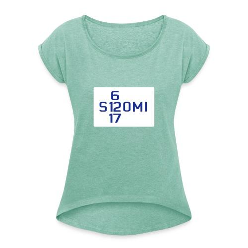 suomi61217 - Naisten T-paita, jossa rullatut hihat