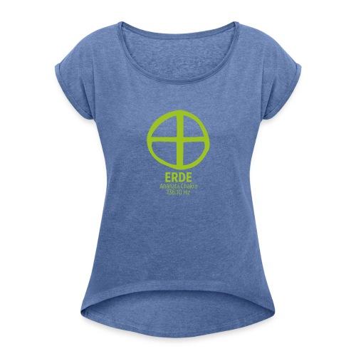 Planet Erde - Frauen T-Shirt mit gerollten Ärmeln