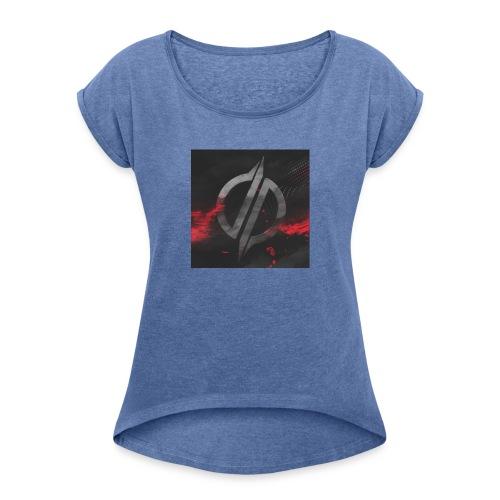 overreagerte - T-skjorte med rulleermer for kvinner