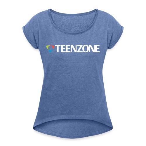 Teenzone - Frauen T-Shirt mit gerollten Ärmeln