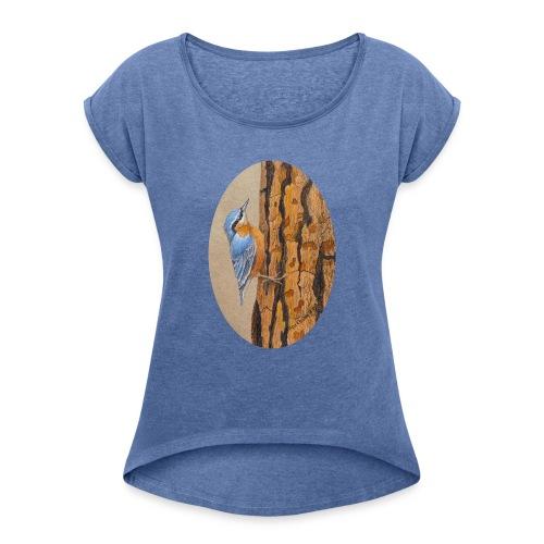 mesange - T-shirt à manches retroussées Femme