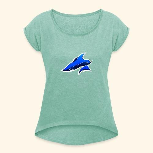 Flyzix® - T-shirt à manches retroussées Femme