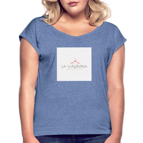 Met merk er op - Vrouwen T-shirt met opgerolde mouwen