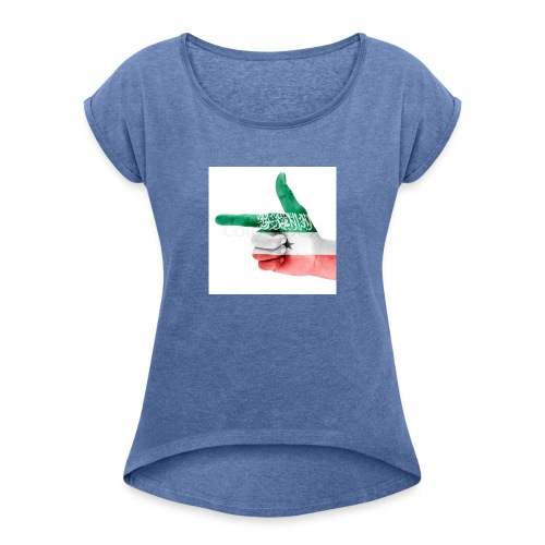 gacanta calanka somaliland - Frauen T-Shirt mit gerollten Ärmeln