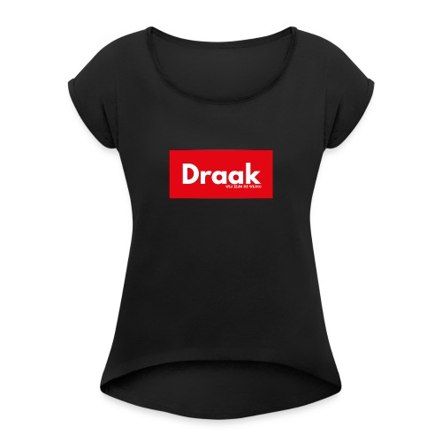 Draak League Spartan - Vrouwen T-shirt met opgerolde mouwen
