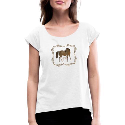 Freunde - Frauen T-Shirt mit gerollten Ärmeln