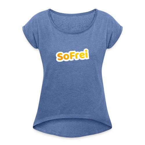Logo der Sommerfreizeiten der EJÖ - Frauen T-Shirt mit gerollten Ärmeln