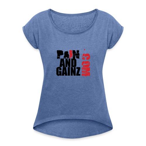 painandgainz3 - Maglietta da donna con risvolti