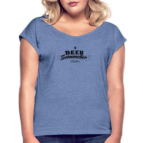 Beer Sommelier Academy Scandinavia - T-shirt med upprullade ärmar dam