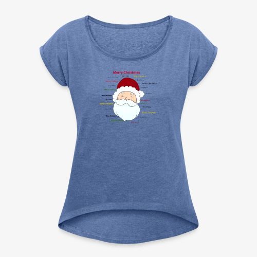 pere noel Merry x mas - Women's T-Shirt with rolled up sleeves
