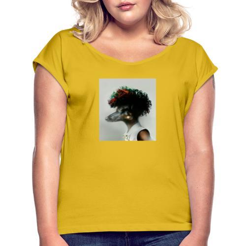 pini punk - Frauen T-Shirt mit gerollten Ärmeln