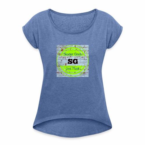 skdatgodslogotyp - T-shirt med upprullade ärmar dam