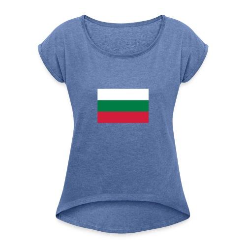 Bulgaria - Vrouwen T-shirt met opgerolde mouwen