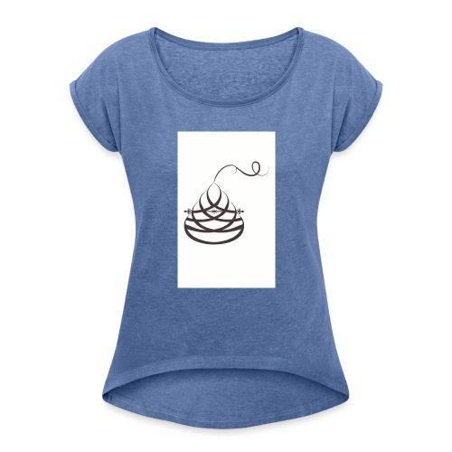 Balance - Naisten T-paita, jossa rullatut hihat