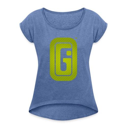 indieGO Logo - Frauen T-Shirt mit gerollten Ärmeln