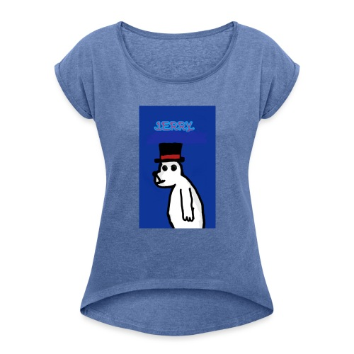 Jerry with tophat - Women's T-Shirt with rolled up sleeves