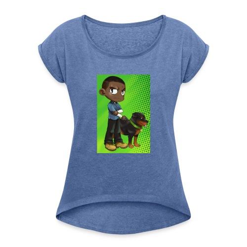 Gtav. 4 - T-shirt à manches retroussées Femme