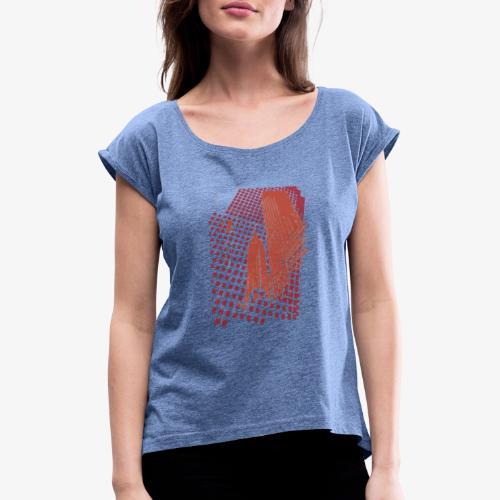 Digital Landscape - Maglietta da donna con risvolti