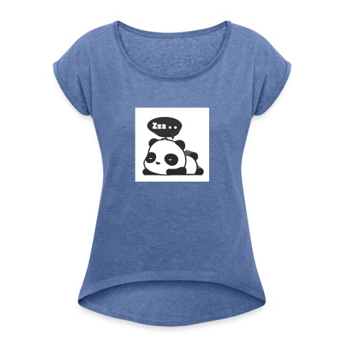 shinypandas - Women's T-Shirt with rolled up sleeves