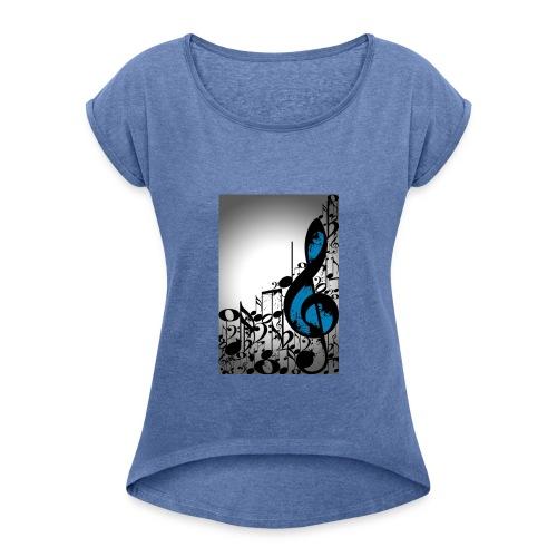 MUSIC BLUE - Maglietta da donna con risvolti