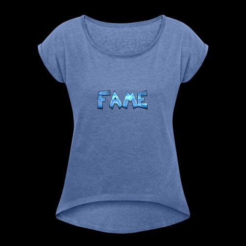 Fame - Frauen T-Shirt mit gerollten Ärmeln