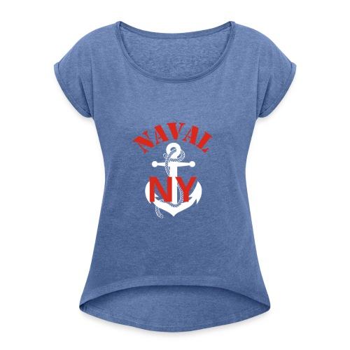Naval NY - T-shirt à manches retroussées Femme