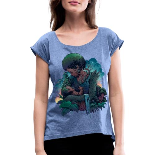 Schöpfer*in - Frauen T-Shirt mit gerollten Ärmeln