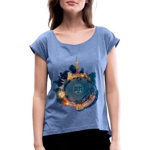 Little Forschd - Frauen T-Shirt mit gerollten Ärmeln