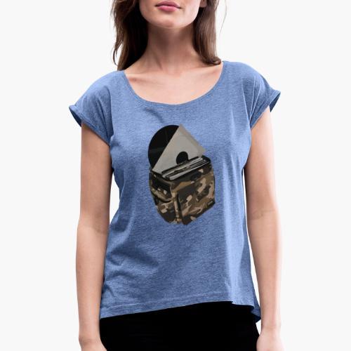 vinyl bag - Koszulka damska z lekko podwiniętymi rękawami