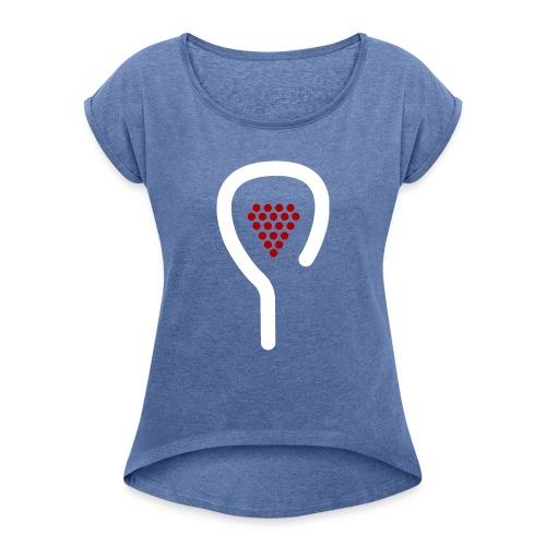Padel&Wine - T-shirt à manches retroussées Femme