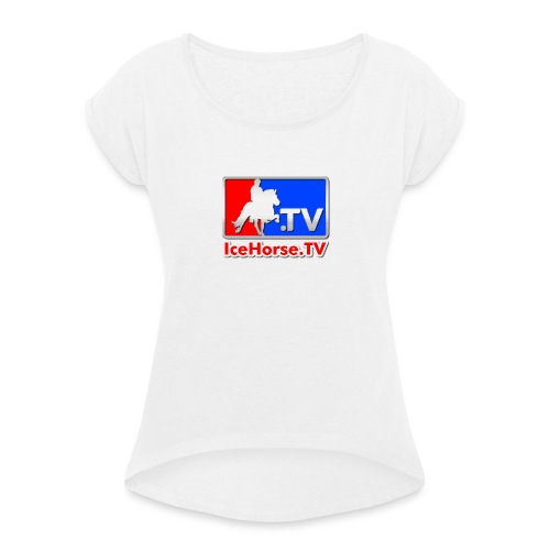 IceHorse logo - Women's T-Shirt with rolled up sleeves