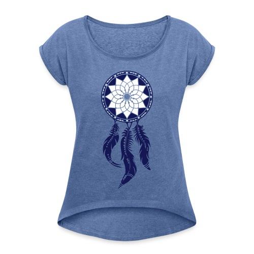 Traumfänger, Dreamcatcher, Indianer, Amerika - Frauen T-Shirt mit gerollten Ärmeln