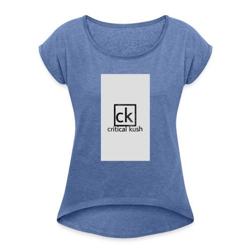 CK _critical kush - Camiseta con manga enrollada mujer