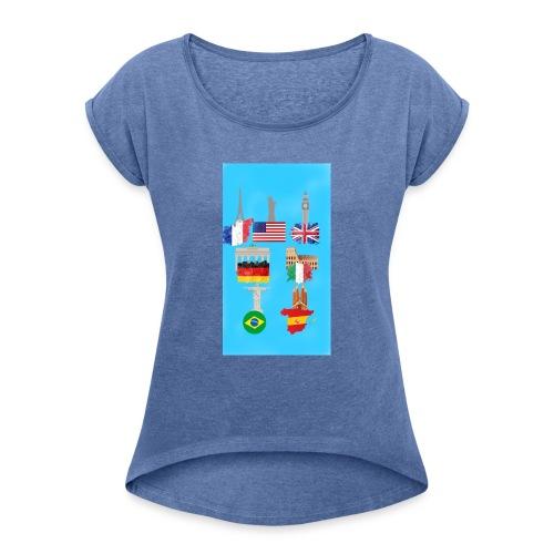 Voyage - T-shirt à manches retroussées Femme