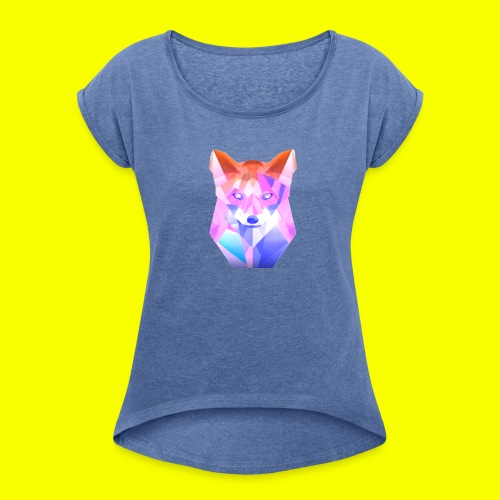 Nemirion Logo - Vrouwen T-shirt met opgerolde mouwen