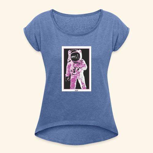 AstroGirl - Vrouwen T-shirt met opgerolde mouwen