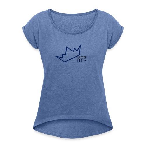 dtsnation - T-shirt med upprullade ärmar dam