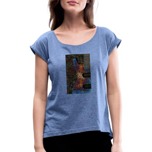 Music t-shirts - Women's T-Shirt with rolled up sleeves