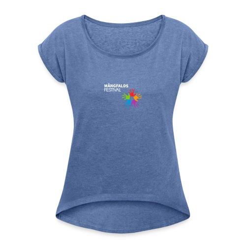 Mångfaldsfestival - T-shirt med upprullade ärmar dam