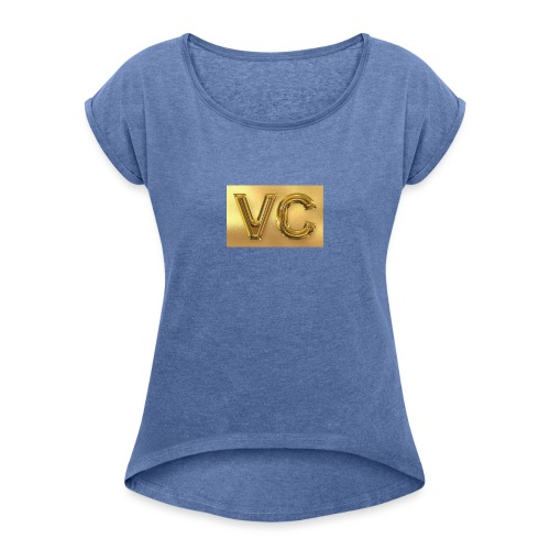 VIllecamacho - T-shirt med upprullade ärmar dam