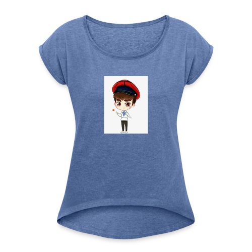 Whyatt G4ming - Women's T-Shirt with rolled up sleeves