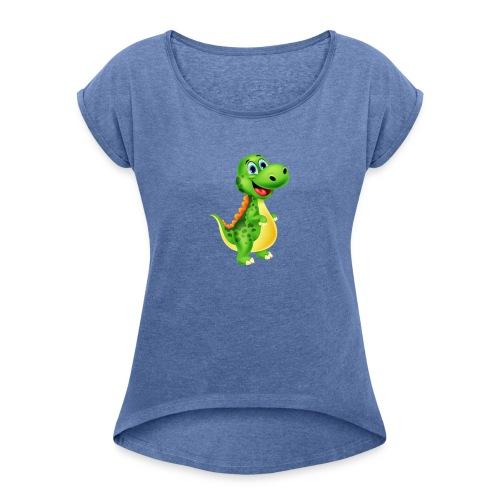 test - T-shirt à manches retroussées Femme