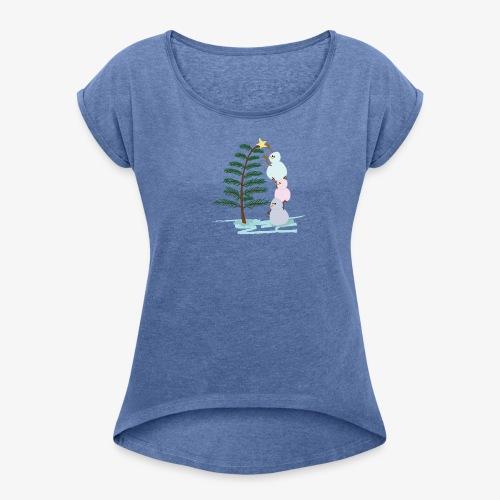 3bonhommesdeneige - T-shirt à manches retroussées Femme