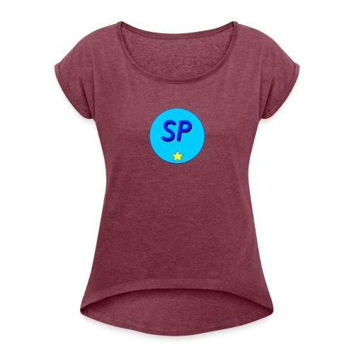 SP - T-shirt med upprullade ärmar dam