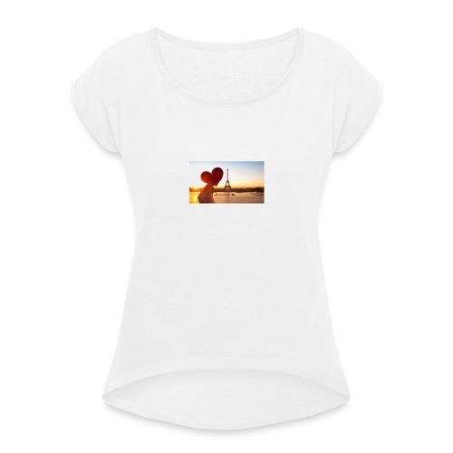 France - Camiseta con manga enrollada mujer