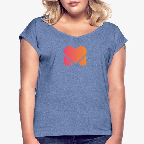 We Love Mallorca - Frauen T-Shirt mit gerollten Ärmeln