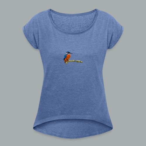 BIRDLEFT - Women's T-Shirt with rolled up sleeves