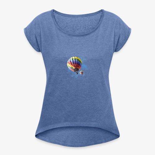 Travel Baloon Shirt - Maglietta da donna con risvolti
