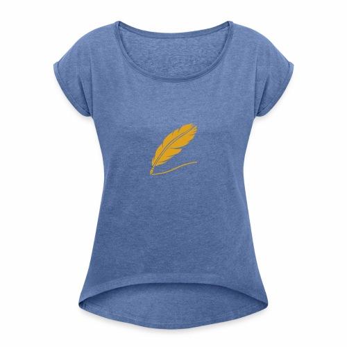Pluma - Camiseta con manga enrollada mujer